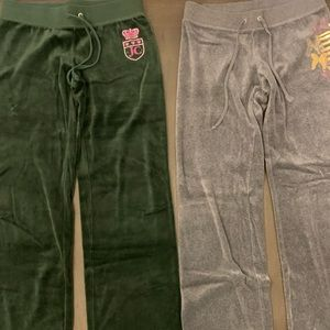 2 pairs of juicy couture pants